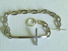 Unisex Sideways Cross Bracelet